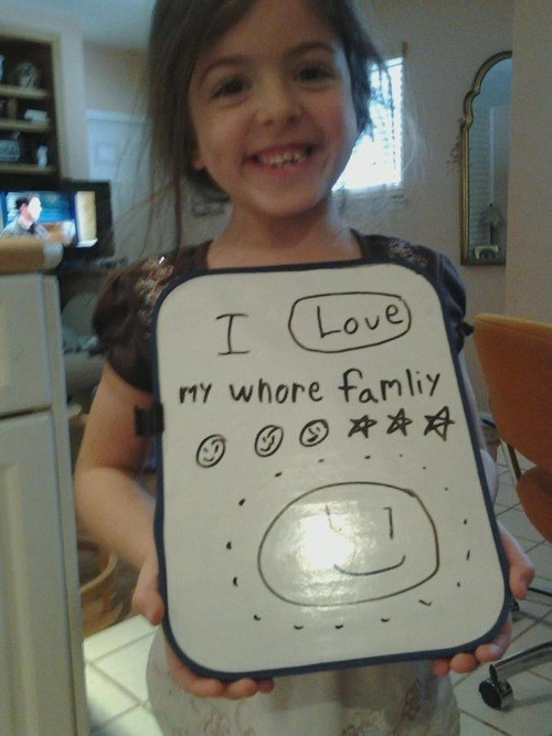 This girl who loves her family