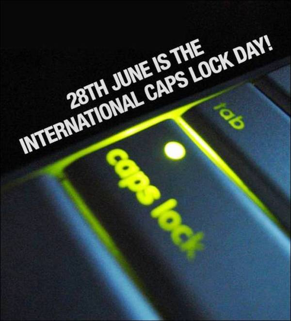 Which is international CAPS LOCK day