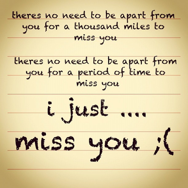 Missing You Quotes - 50 Best Missing You Quotes Of All Time