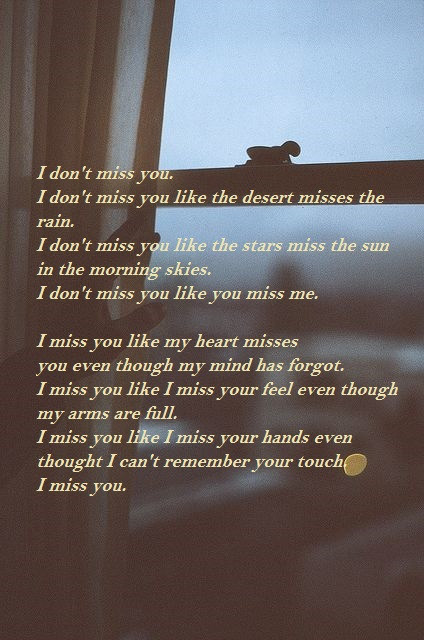 i miss you sms