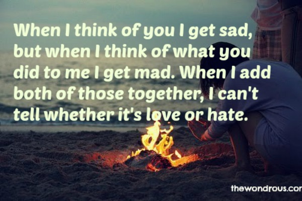 hate love quotes
