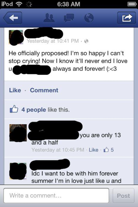 funny comments on facebook