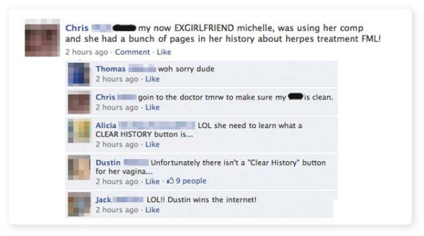 funny facebook status messages