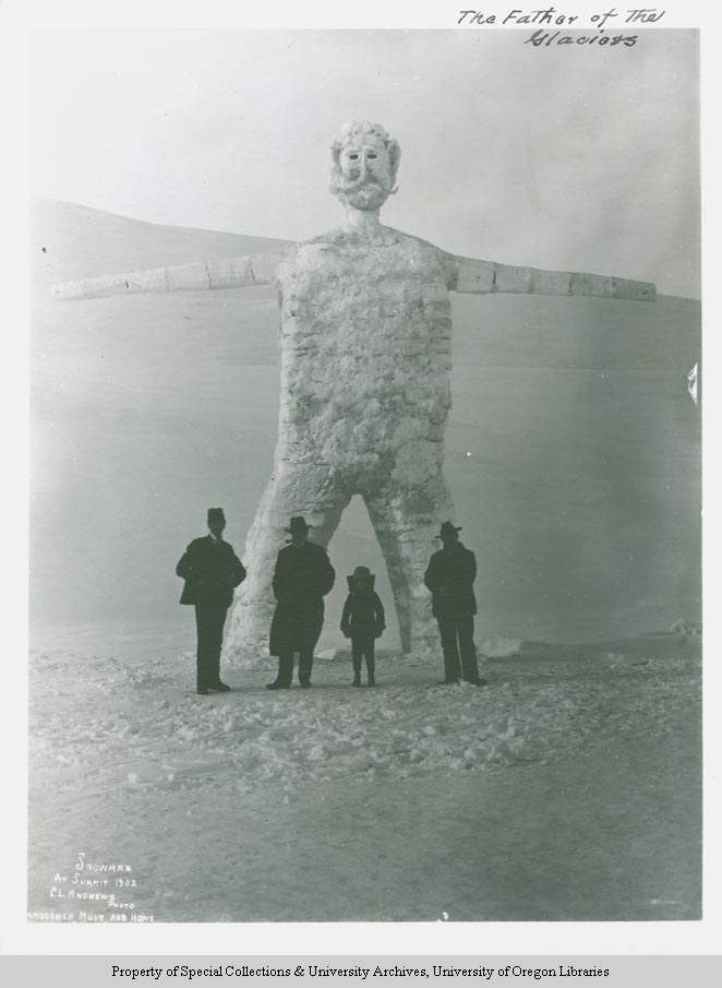Snowman at summit 1902