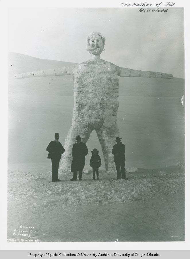 Snowman at summit 1902