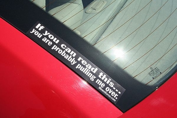 Car bumper stickers