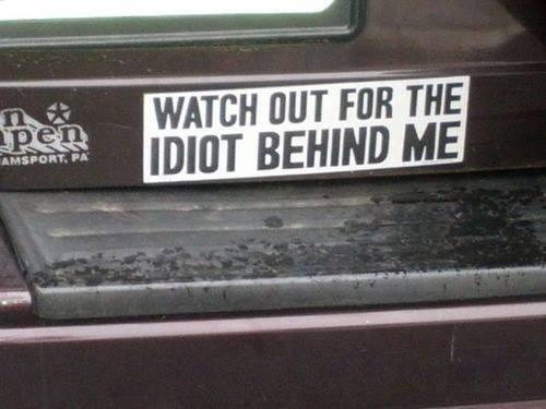 Custom bumper sticker