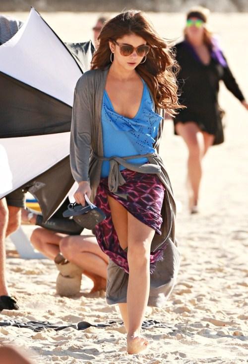 sarah hyland in bikini at beach