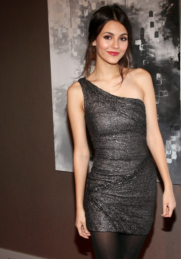 victoria justice in black dress