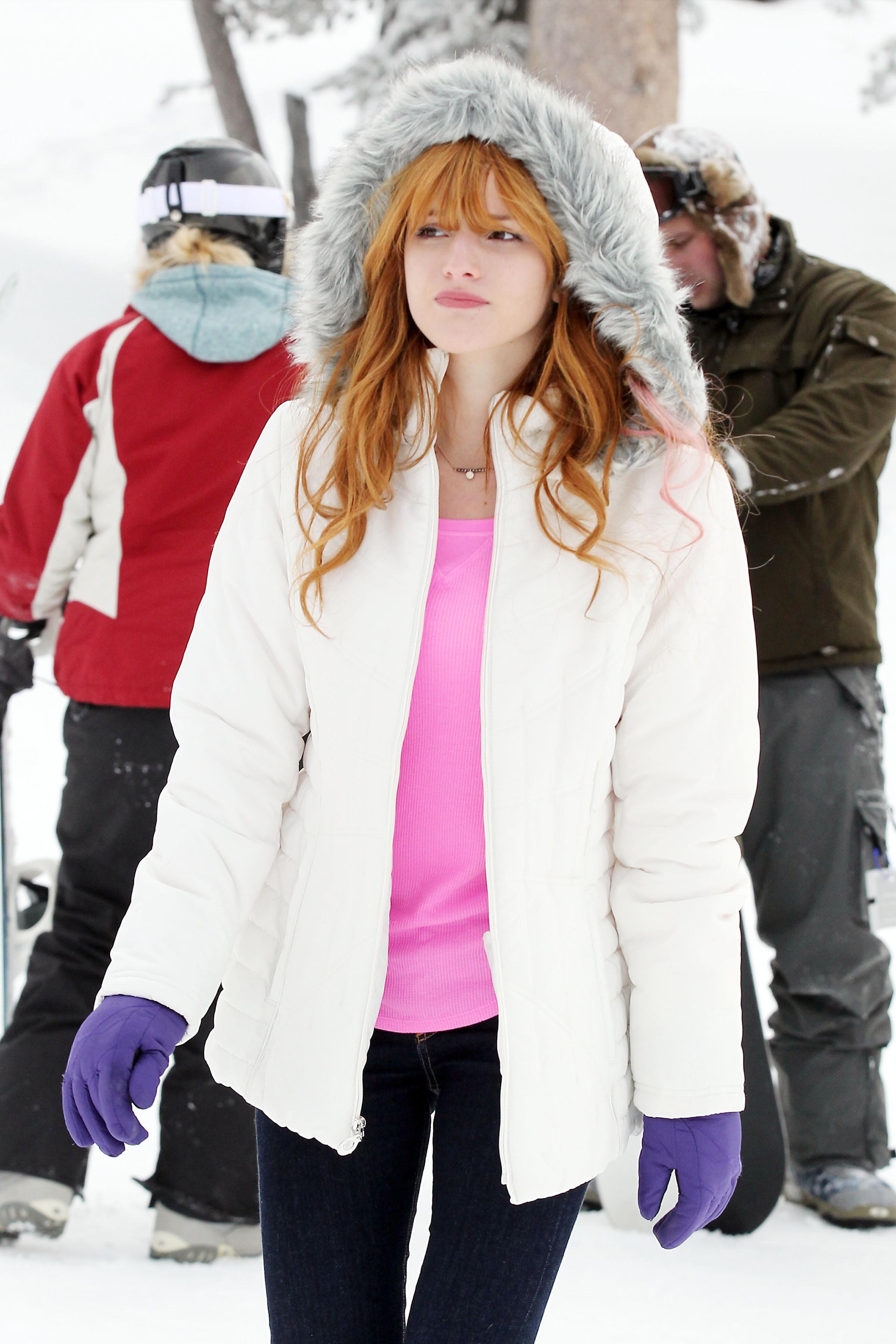 Bella Thorne winter dress