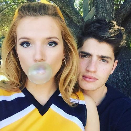 Bella Thorne with her boyfriend