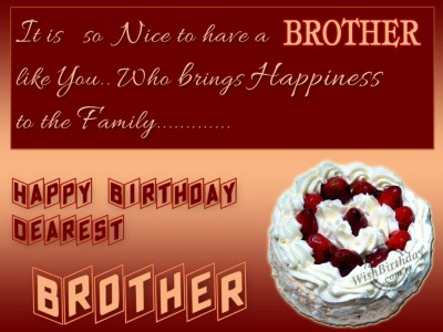 birthday message for a brother