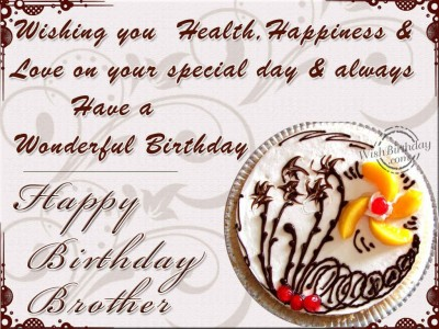birthday message to brother