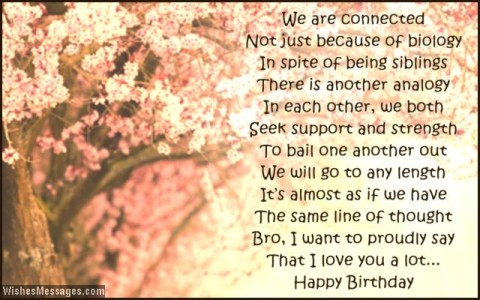 brother birthday message