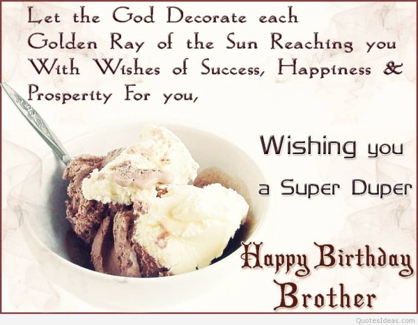 happy birthday to brother