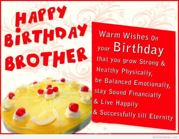 The 33 All Time Best Birthday Wishes For Brother – Happy Birthday Card for My Brother