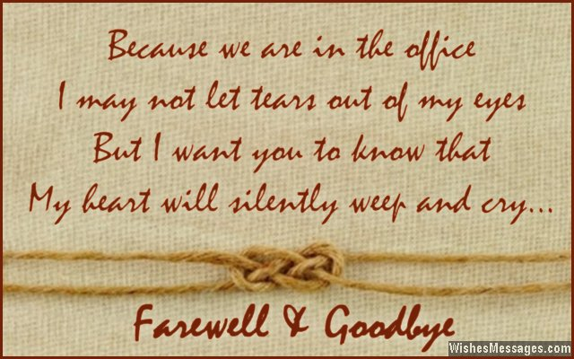 A good farewell message