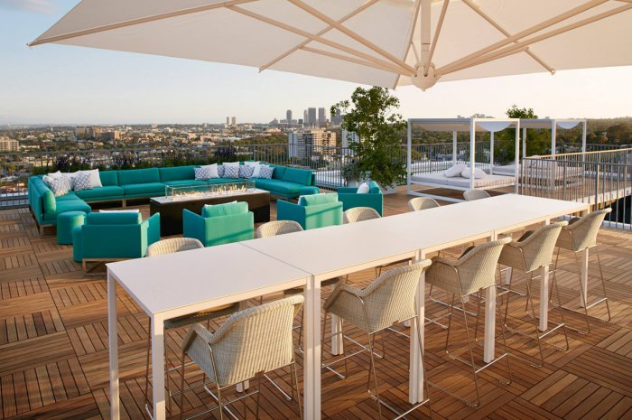 Rooftop West Restaurant and Lounge at the London, Los Angeles