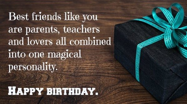 birthday message to a friend