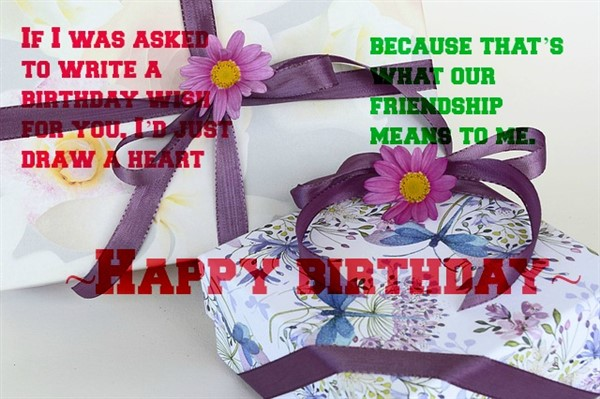 birthday thoughts for friend