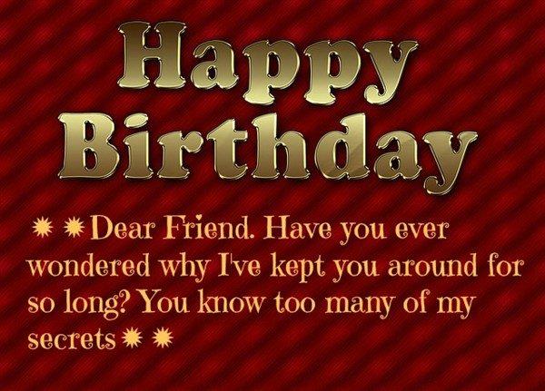 birthday wishes to a friend