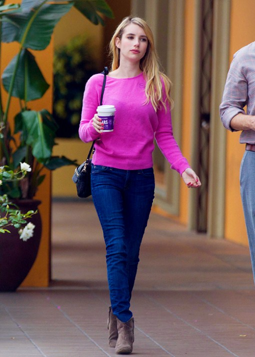 emma roberts in jeans