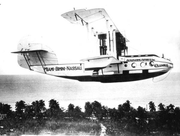Aeromarine 75 in flight