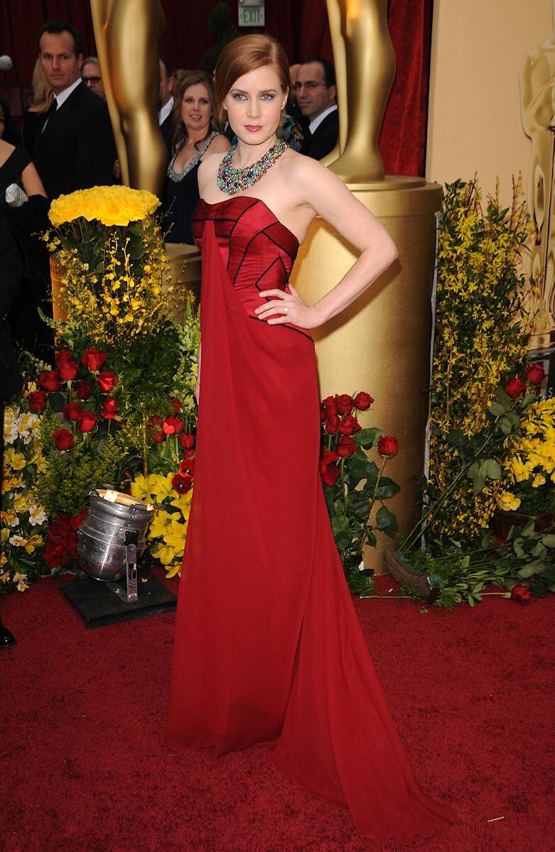 Amy Adams in red dress