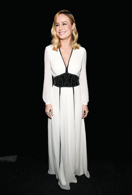 Brie Larson Beautiful in white dress