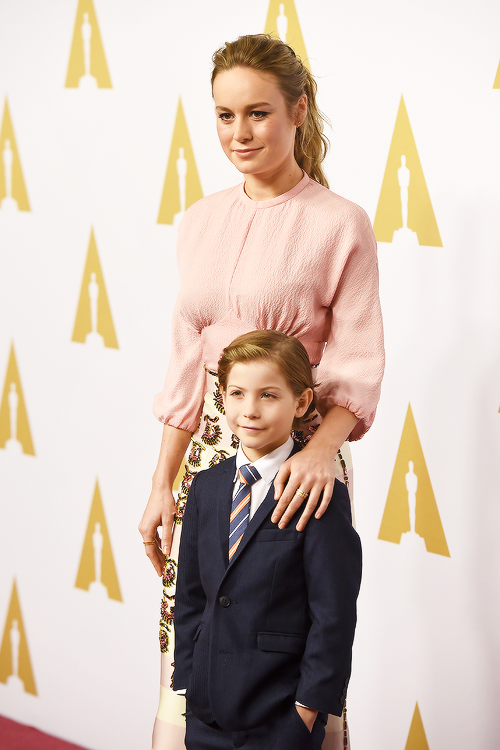 Brie Larson with her son