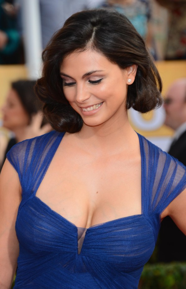Morena Baccarin cute smile on her face