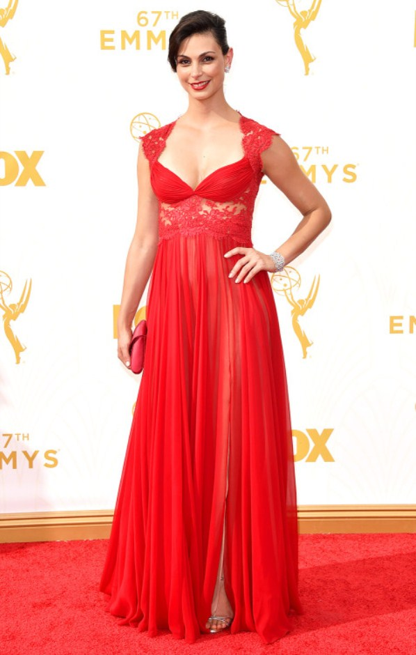 Morena Baccarin hot red carpet look