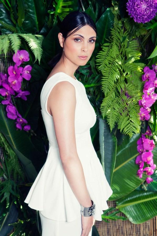Morena Baccarin white dress