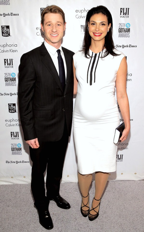 Morena Baccarin with husband