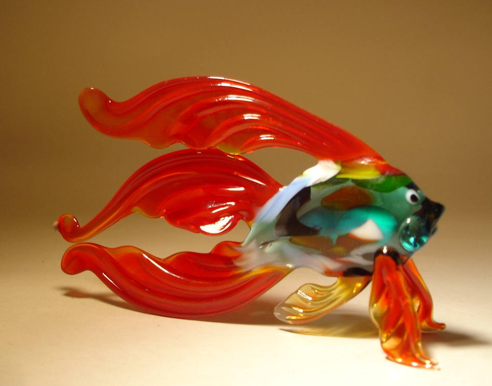 22 Stunning Handmade Blown Glass Fish Figurine By Bill