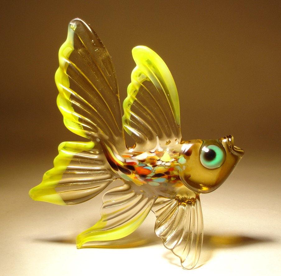 22 stunning handmade blown glass fish figurine by bill for Blown glass fish
