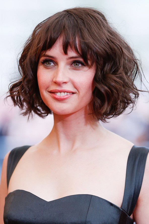 how to style short puffy hair the 31 felicity jones photos and pictures of all time 7535 | felicity jones short hair